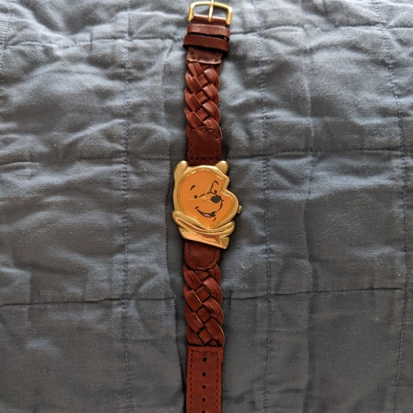Timex Accessories - Vintage Winnie the Pooh Braided Leather Watch